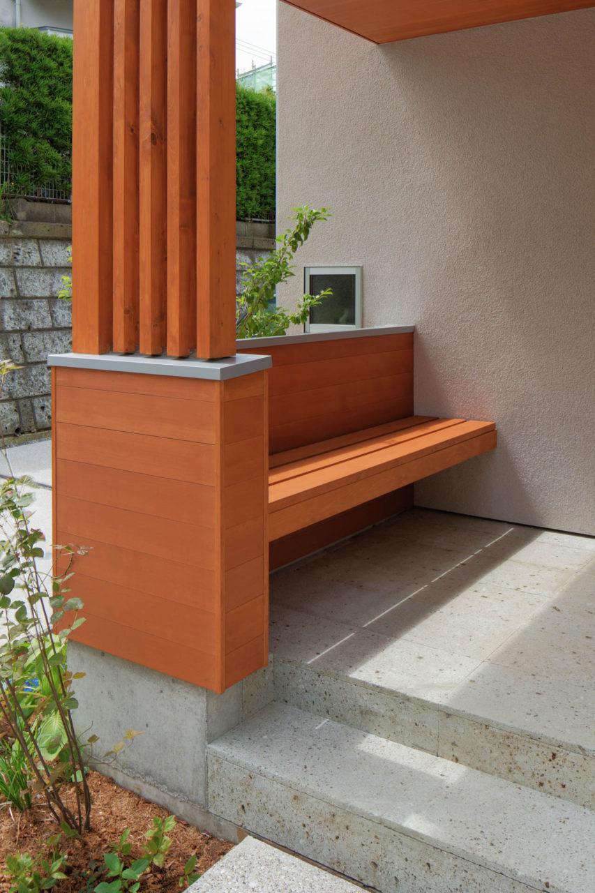 方形の家 ベンチ/Mアトリエ