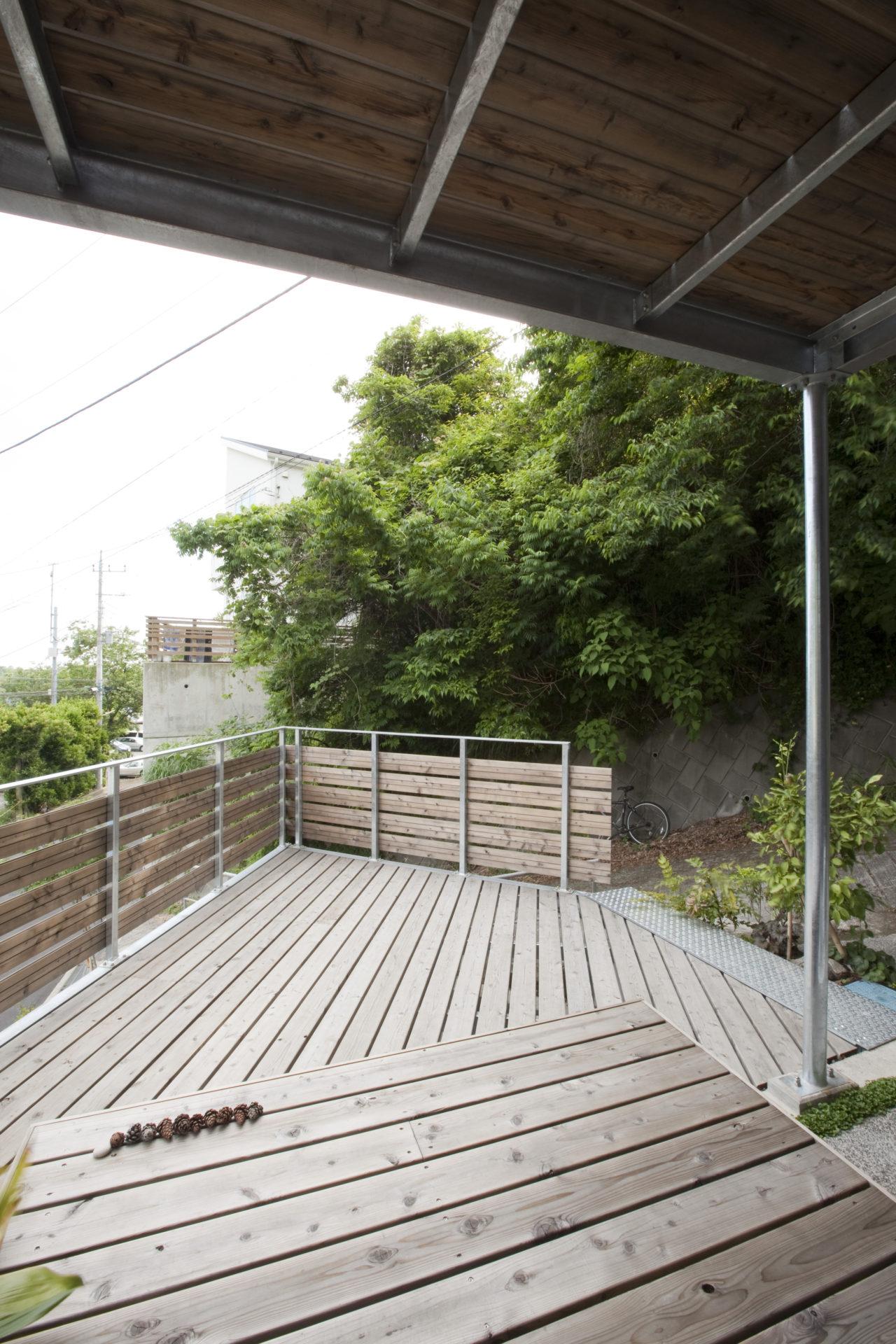 大磯の家 ウッドデッキ/Mアトリエ