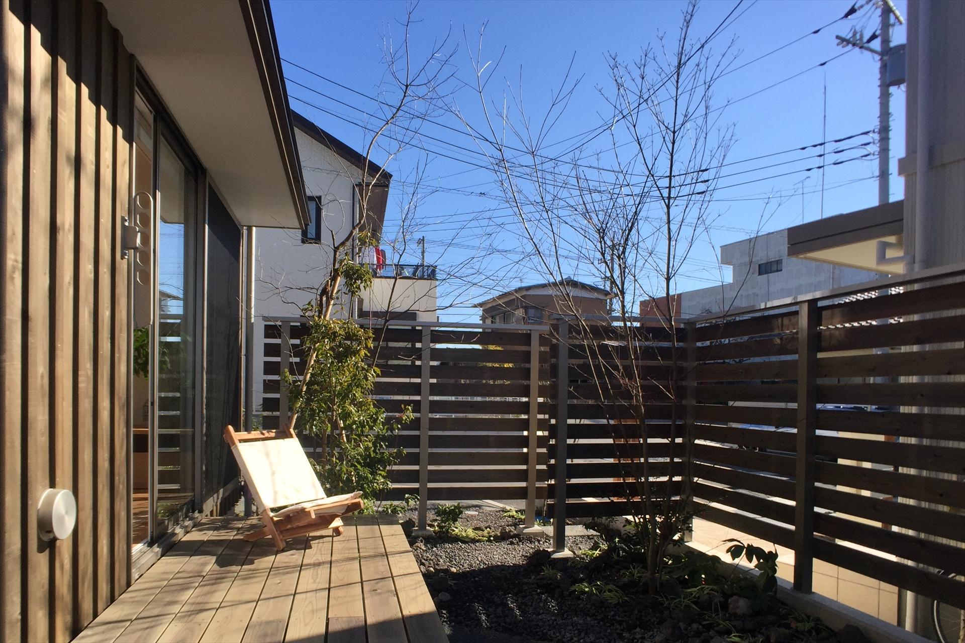 裾野の家 ウッドデッキ/Mアトリエ
